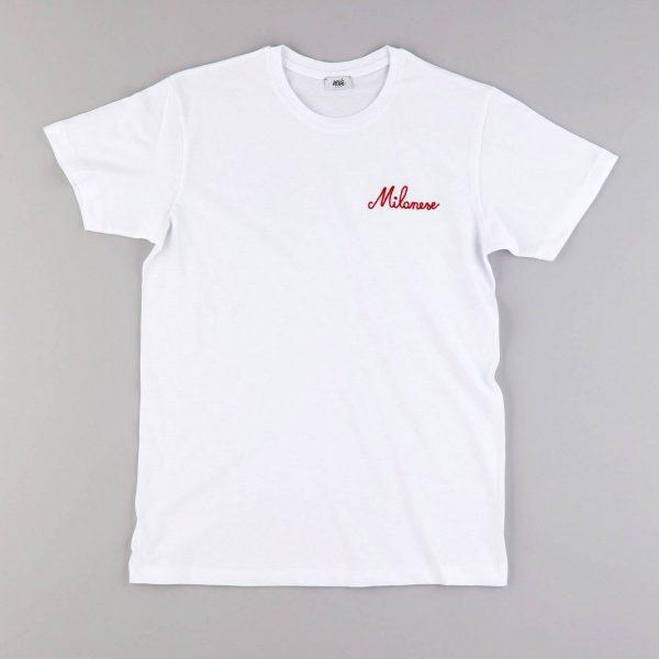 "T-shirt ricamata ""Milanese"" (Unisex)"