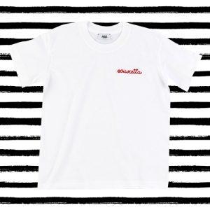 "T-shirt ricamata bambini ""Sciuretta"" bianca (Kids)"