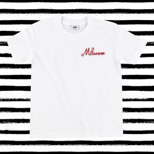 "T-shirt ricamata bambini ""Milanese"" bianca"