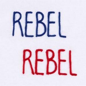 """T-shirt ricamata """"Rebel Rebel"""" bianca (Unisex)"""
